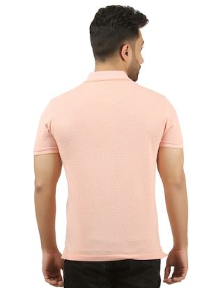 peach cotton all over print t-shirt - 15427300 - Standard Image - 3