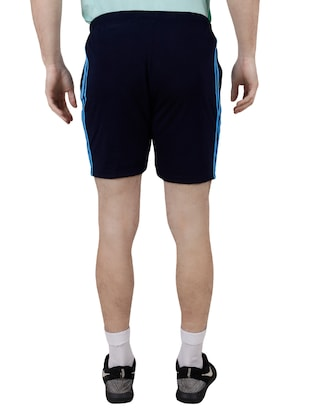 blue cotton blend shorts - 15429080 - Standard Image - 3