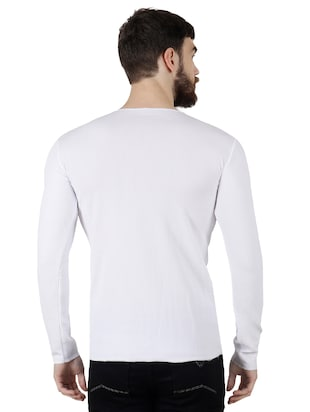 white polyester t-shirt - 15429103 - Standard Image - 3