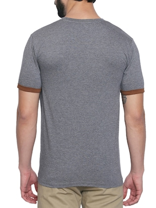 grey cotton t-shirt - 15429683 - Standard Image - 3