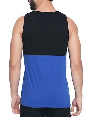 blue cotton color block  t-shirt - 15429687 - Standard Image - 3