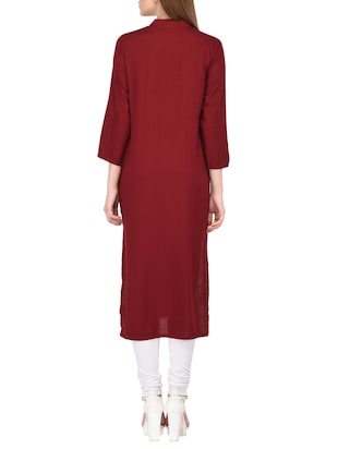 straight kurta with tassels - 15430612 - Standard Image - 3