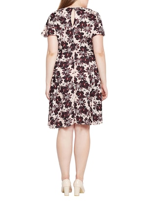 floral fit and flare plus dress - 15431170 - Standard Image - 3