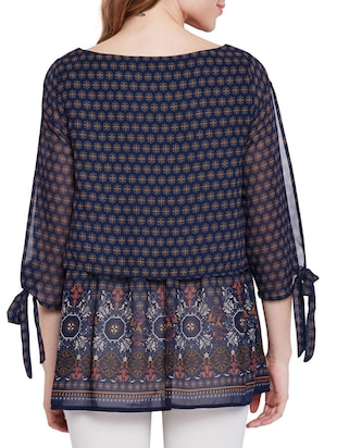 printed layered maternity tunic - 15431232 - Standard Image - 3
