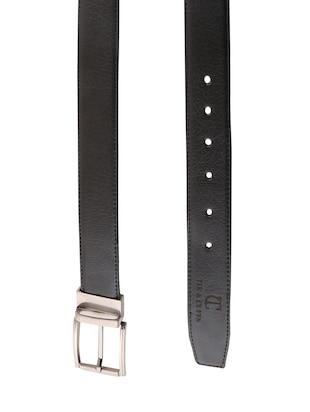 black & brown leatherette reversible  belt - 15432421 - Standard Image - 3