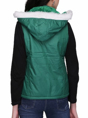 quilted & padded hooded jacket - 15432493 - Standard Image - 3