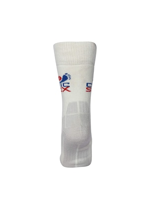 white wool above ankle length sock - 15435679 - Standard Image - 3