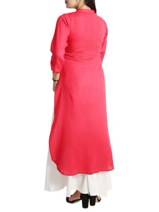 straight pintucks kurta - 15437912 - Standard Image - 3