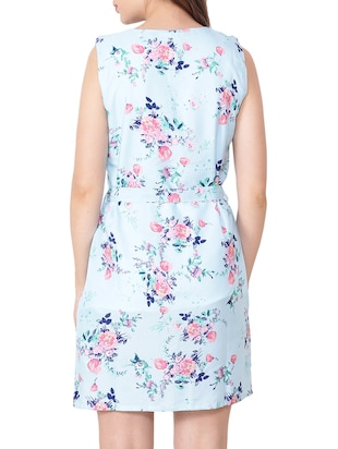 Floral belted sheath dress - 15438006 - Standard Image - 3