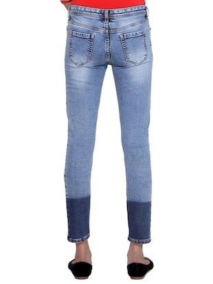 two tone distressed jeans - 15467202 - Standard Image - 3