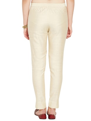 flat front solid trouser - 15494243 - Standard Image - 3