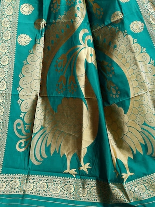 printed kanjivaram saree with blouse - 15496489 - Standard Image - 3