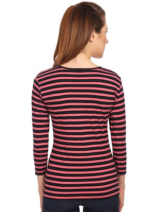 button detail striped top - 15497097 - Standard Image - 3