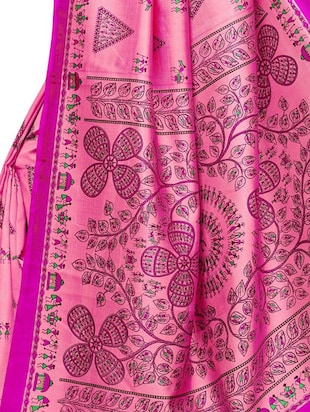 warli printed saree with blouse - 15497513 - Standard Image - 3