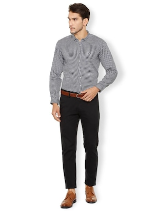 black cotton casual shirt - 15497745 - Standard Image - 3