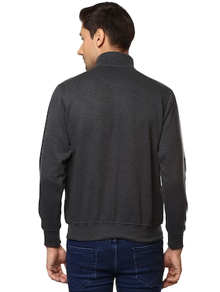 grey cotton casual jacket - 15498698 - Standard Image - 3