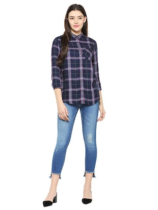 pocket patch checkered shirt - 15498980 - Standard Image - 3