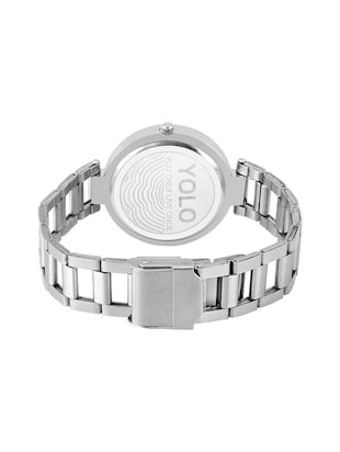 YOLO round dial analog watch YLC-0124 - 15502208 - Standard Image - 3