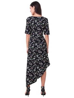 smocked printed asymmetric dress - 15502249 - Standard Image - 3