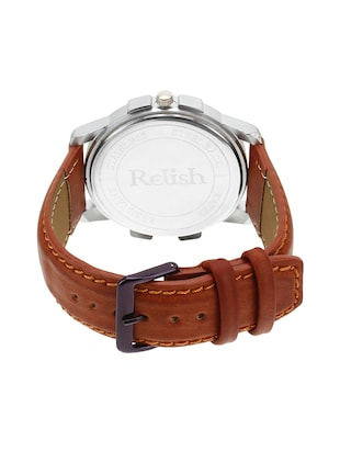 Relish Leather strap analog watch (RE-ST975DD) - 15502757 - Standard Image - 3