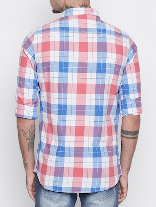 multi colored cotton casual shirt - 15505390 - Standard Image - 3