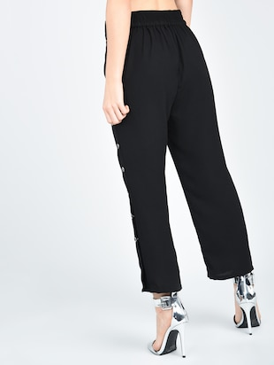 Side slit button detail trouser - 15512094 - Standard Image - 3