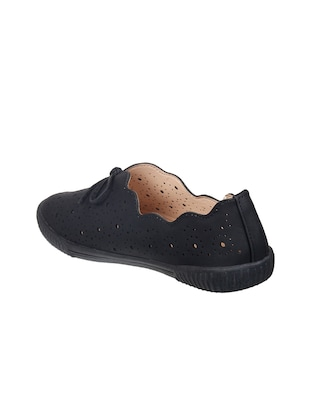 black slip on casual shoes - 15515070 - Standard Image - 3