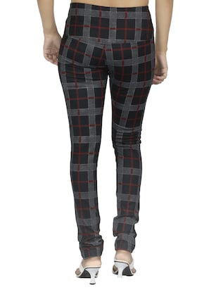 mid waist checkered jegging - 15518251 - Standard Image - 3
