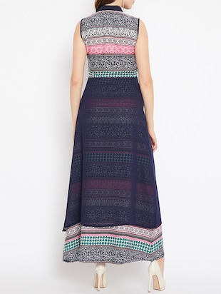 layered front printed maxi dress - 15518342 - Standard Image - 3