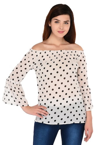 8624f3219f94f Buy polka dots tops for women black and white in India   Limeroad