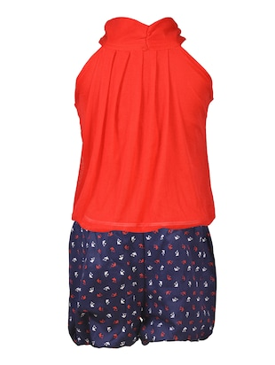 red cotton shorts set - 15528967 - Standard Image - 3