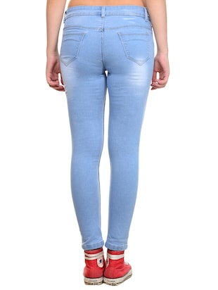 stone washed skinny jeans - 15532860 - Standard Image - 3