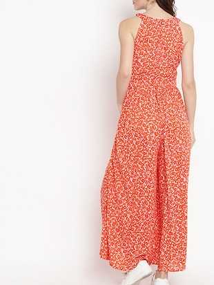 gathered detail flared jumpsuit - 15566299 - Standard Image - 3