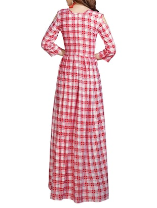 High low checkered dress - 15604828 - Standard Image - 3