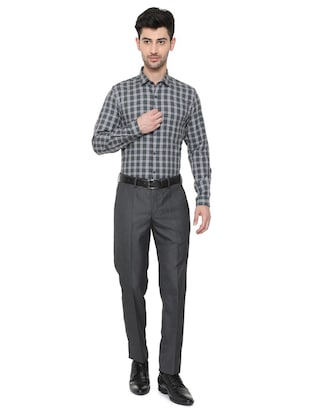 black cotton blend formal shirt - 15608595 - Standard Image - 3