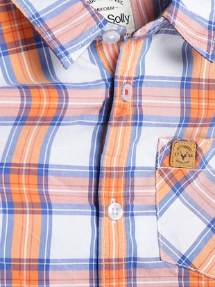 orange cotton blend shirt - 15608999 - Standard Image - 3