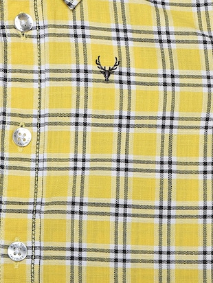 yellow cotton blend shirt - 15609043 - Standard Image - 3