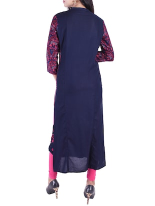 Embroidered straight kurta - 15609224 - Standard Image - 3