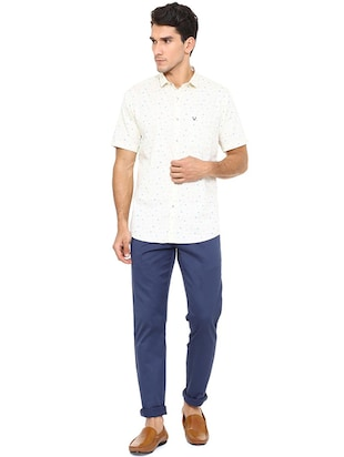 white cotton casual shirt - 15609289 - Standard Image - 3