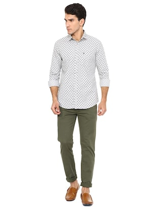 white cotton casual shirt - 15609301 - Standard Image - 3