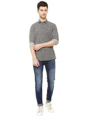 black cotton casual shirt - 15609307 - Standard Image - 3