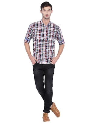 multi cotton casual shirt - 15609390 - Standard Image - 3