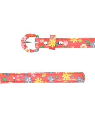red leatherette belt - 15610521 - Standard Image - 3