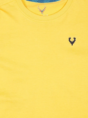 yellow cotton tshirt - 15610580 - Standard Image - 3