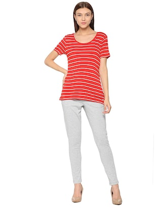 round neck stripped tee - 15610753 - Standard Image - 3