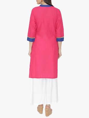 Embroidered straight kurta - 15611369 - Standard Image - 3