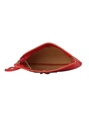 red leatherette (pu) regular sling bag - 15611744 - Standard Image - 3