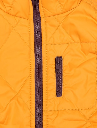 yellow polyester quilted jacket - 15611928 - Standard Image - 3