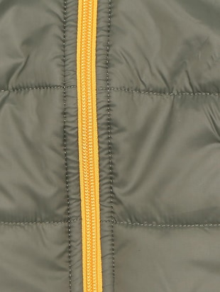 green polyester quilted jacket - 15611934 - Standard Image - 3