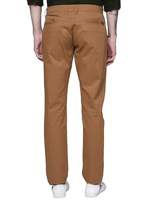 brown cotton chinos casual trouser - 15612305 - Standard Image - 3